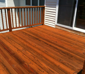 deck staining in Montvale